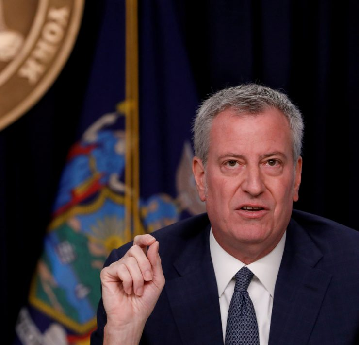 Coronavirus Mayor Bill de Blasio